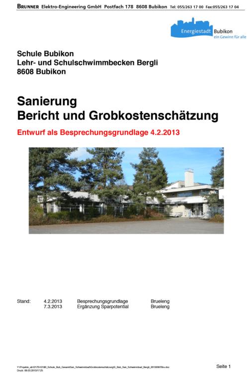 Deckblatt-Sanierungsbericht